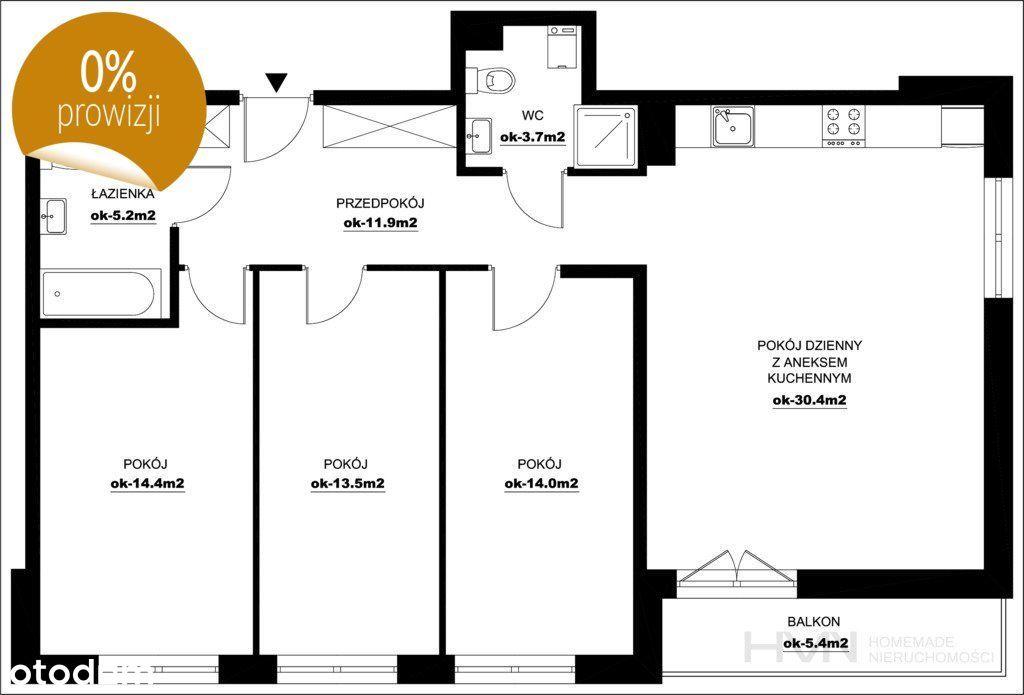 4 pokoje z balkonem, Ostatnie, Przewóz, Bez Pcc
