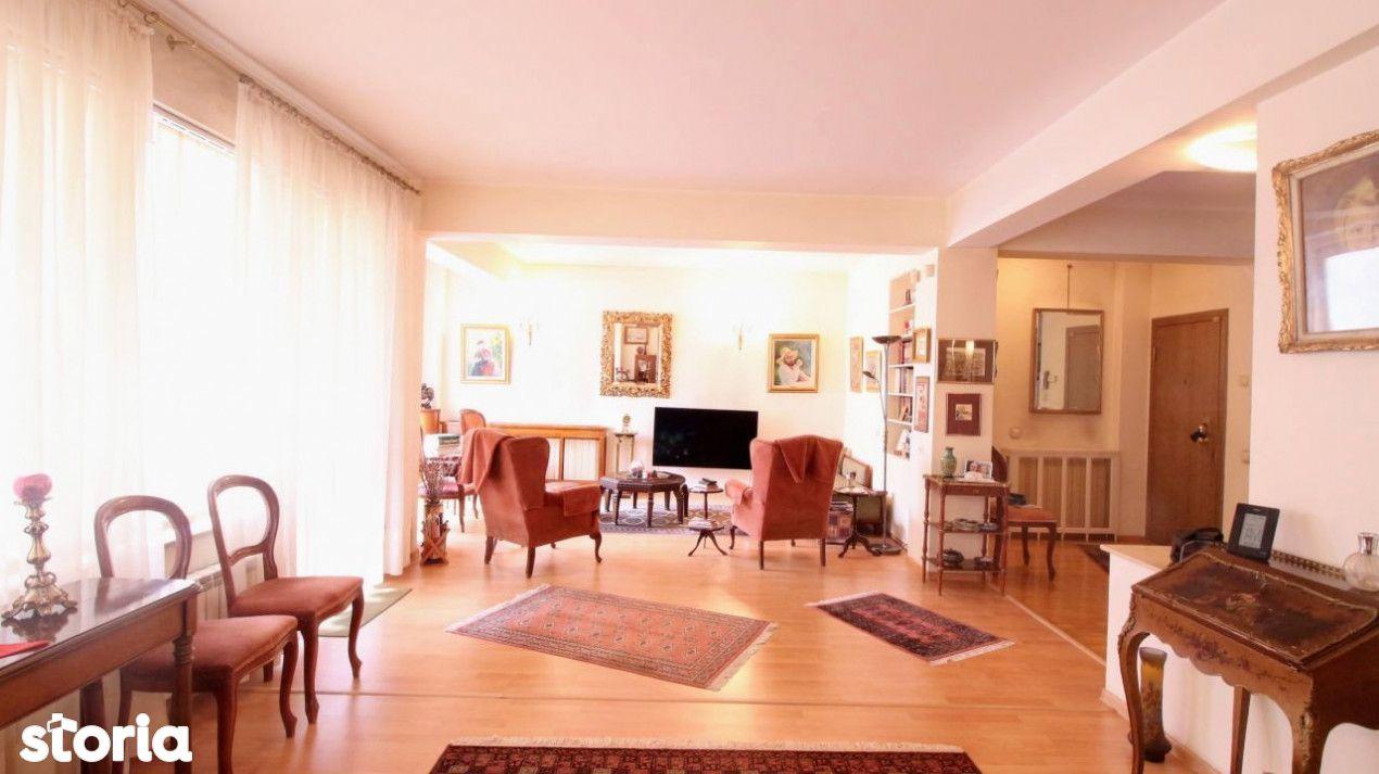 Dorobanti/ Beller, apartament 3 camere, 3 balcoane, 141 mp, etaj 1/3,