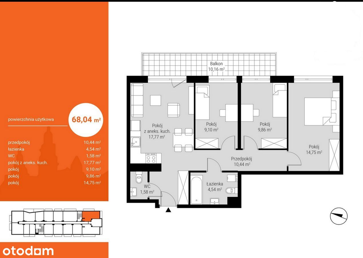 Apartament 69m2, 4 pok, Gwarancja najniższej ceny!