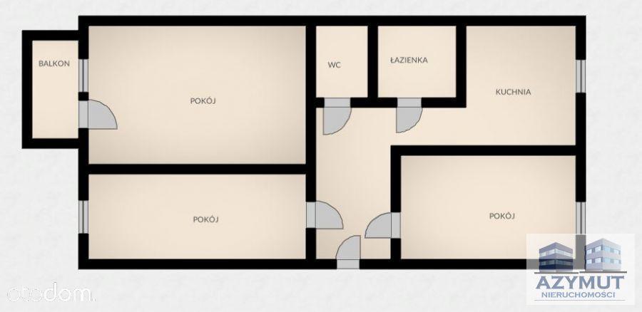Mieszkanie 3-pokojowe z balkonem, II piętro