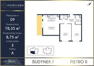 Osielsko przestronny apartament 3 pokoje 78 m2