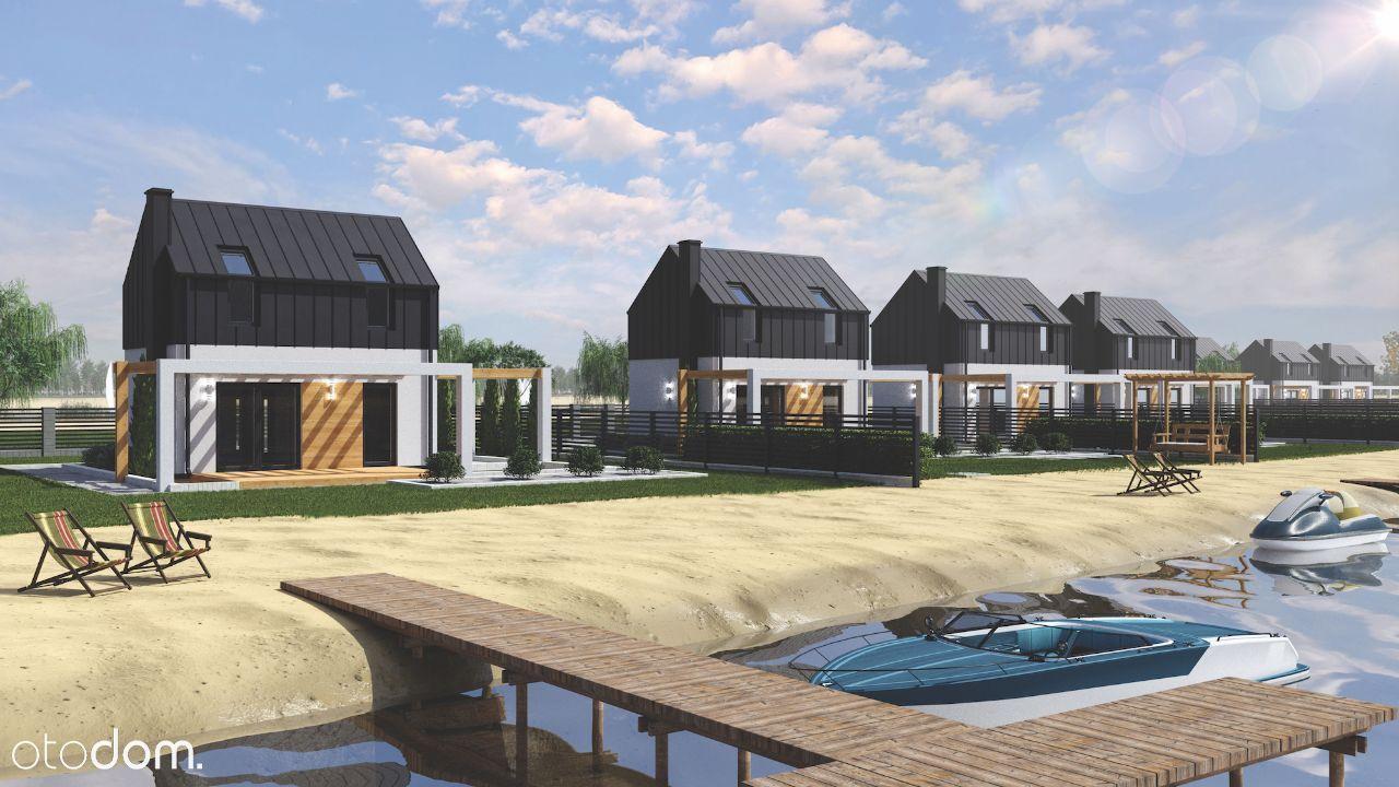 Działka + Domek Murowany z plażą nad Jeziorem