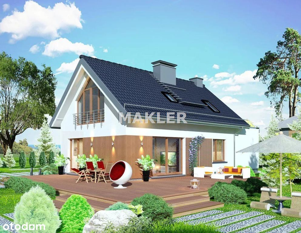 Dom, 140 m², Rynarzewo