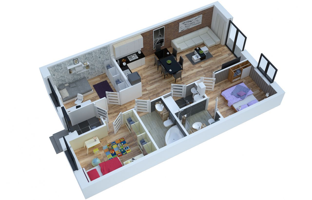 Apartament Wesoła - Nowy Otok - B5
