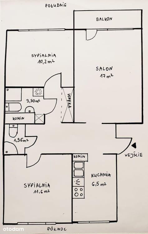 3 pokoje Doły Franciszkańska