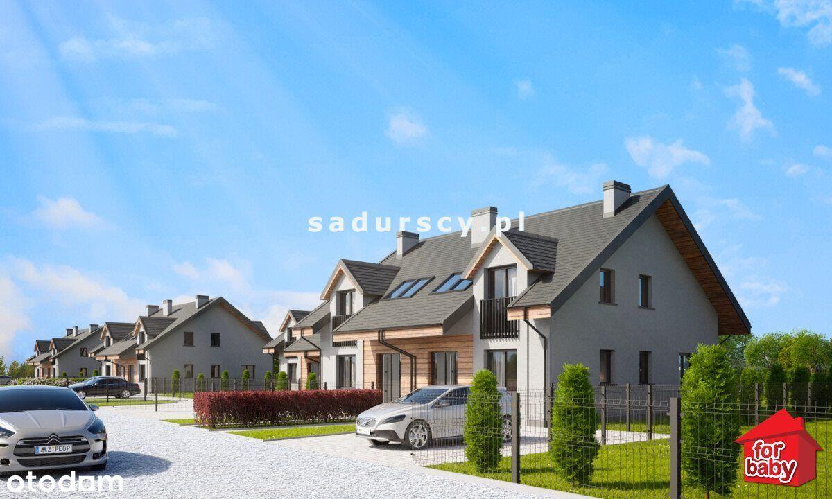 gm. Liszki - nowe domy w zab. bliźniaczej
