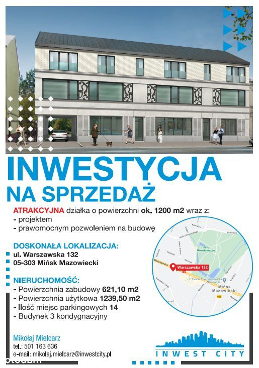 Atrakcyjna działka INWESTYCYJNA Miński Mazowiecki
