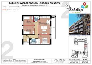 Mieszkanie A2.M21 Poznań Śródka OdNowa 2