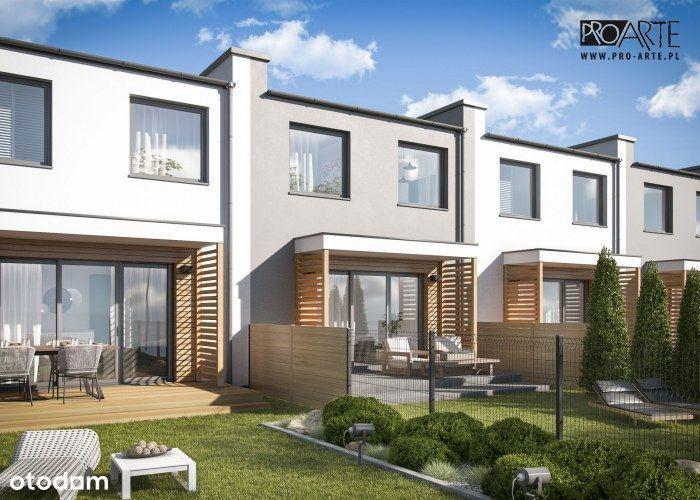 Nowe osiedle domów w zabudowie szeregowej w Żorach