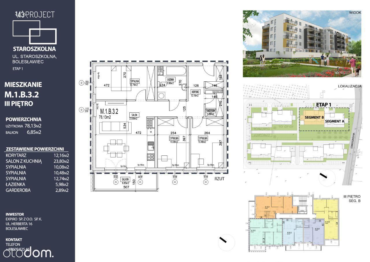 Nowe mieszkanie, 4-pokojowe, ul. Staroszkolna,78m2
