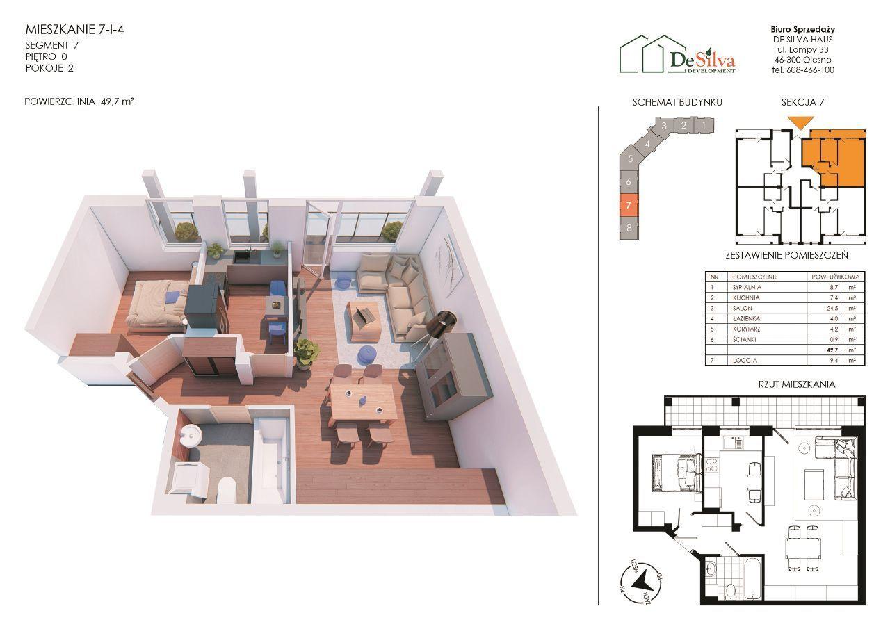 Mieszkanie 2 pokoje nowy blok garaż podziemny 714