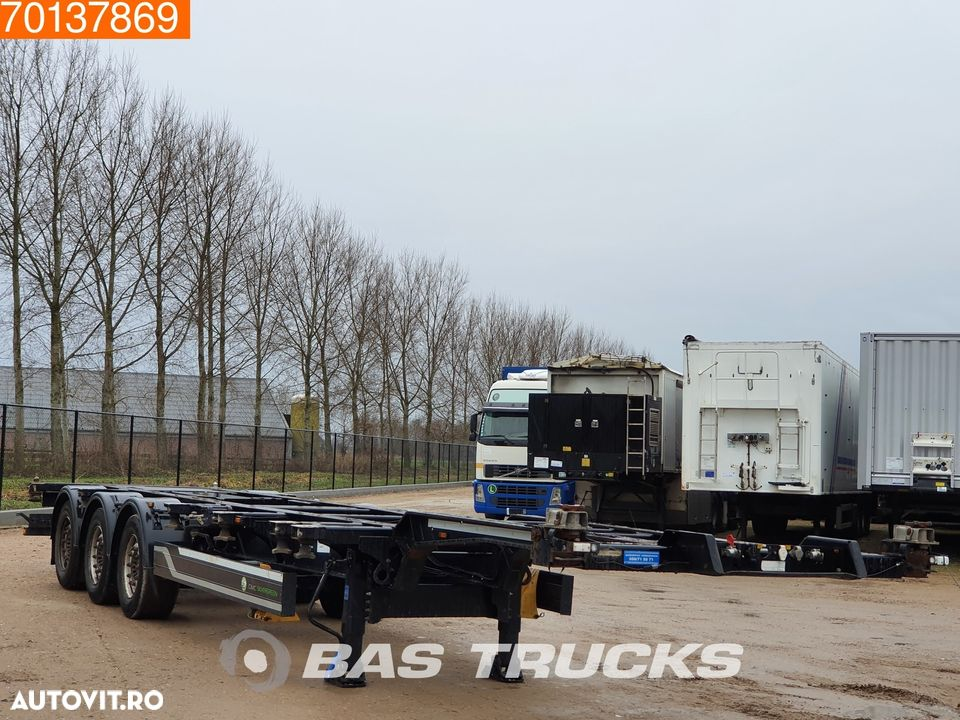CIMC SC03 20-30-40 Ft. 3 axles Extendable Multifunctional Chassis Liftachse - 2