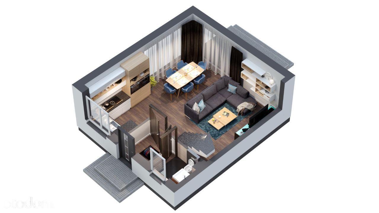 Invest Complex mieszkanie 70.96m2 ogród+poddasze