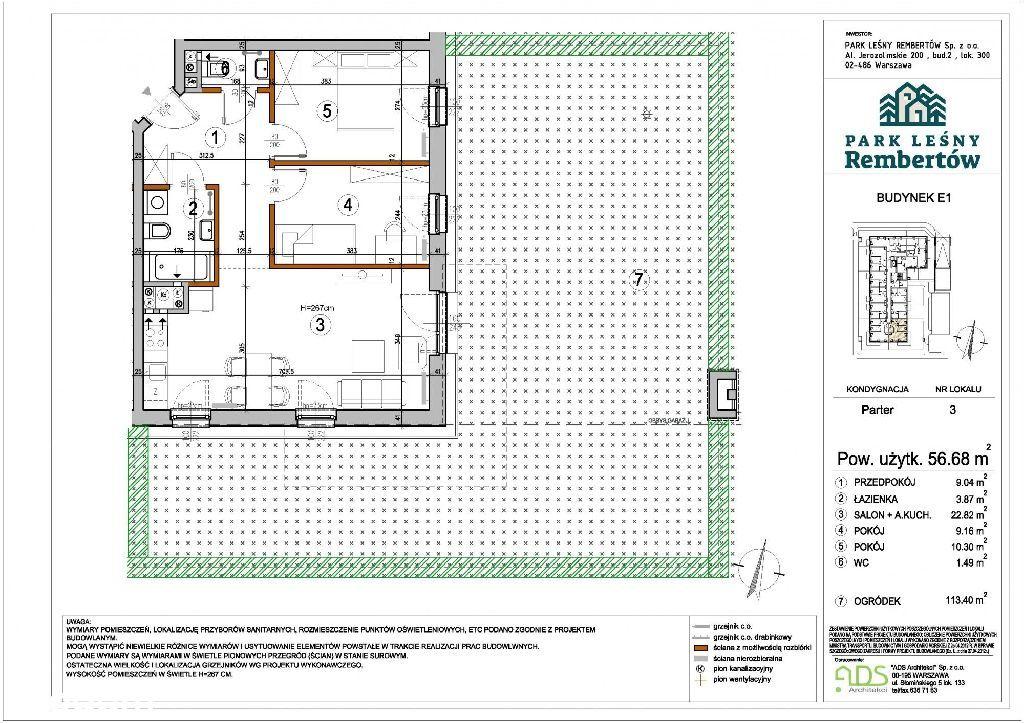Mieszkanie 3 pokojowe na nowym osiedlu z Dużym Ogr