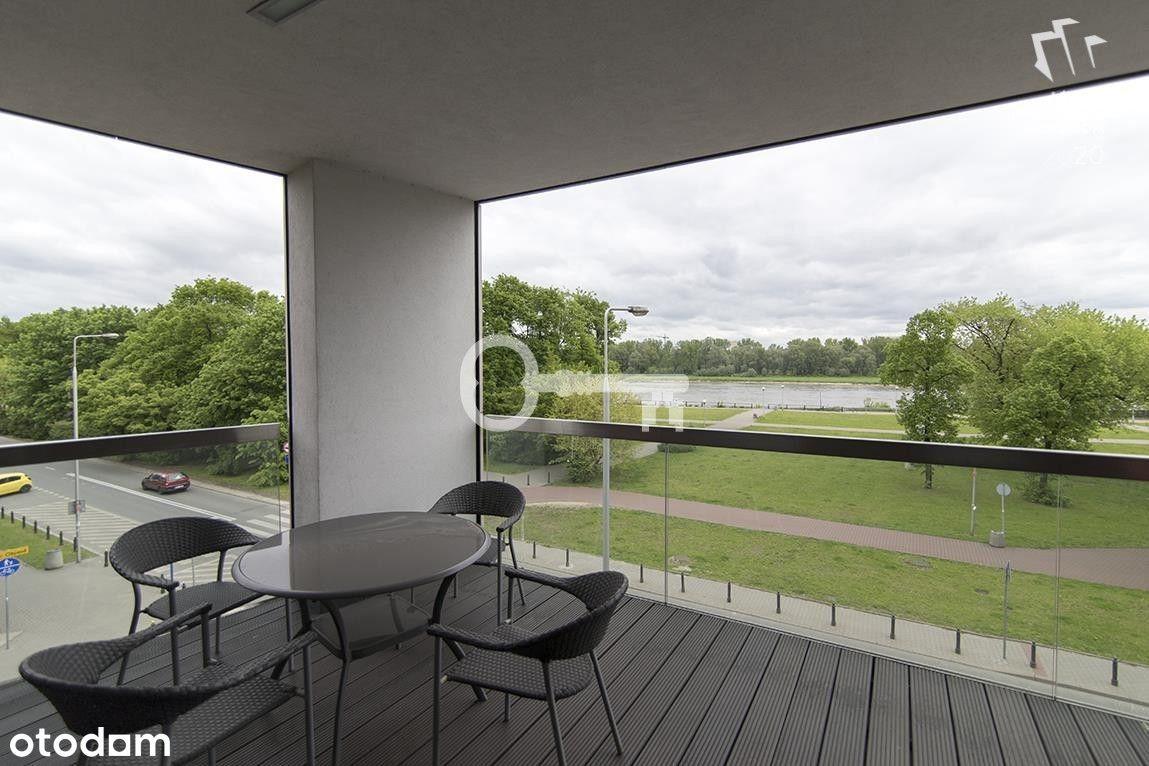 Piękny apartament | Duży taras z widokiem na Wisłę