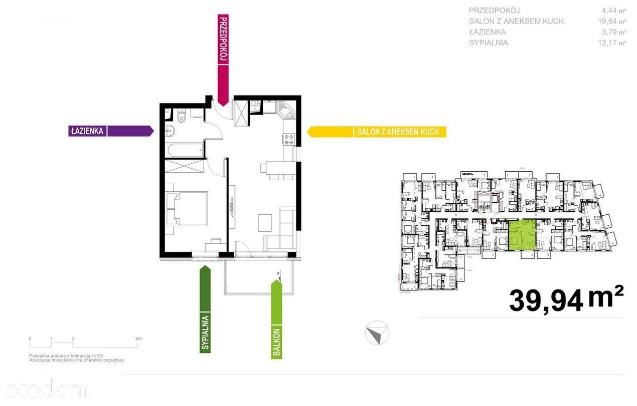 Apartament 40m2, 2 pokoje, Prestiżowe Osiedle!