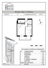 F1 - 2 pok. - 42 m2 + balkon - REZERWACJA