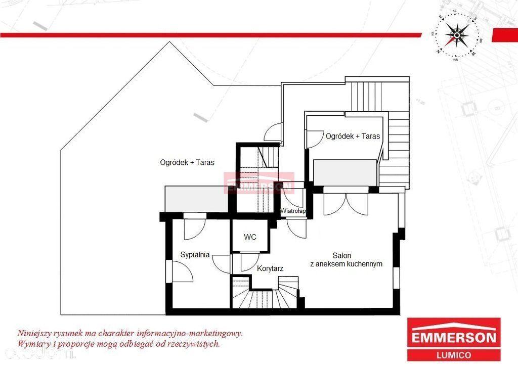Mieszkanie dwupoziomowe z ogródkiem Bronowice Małe