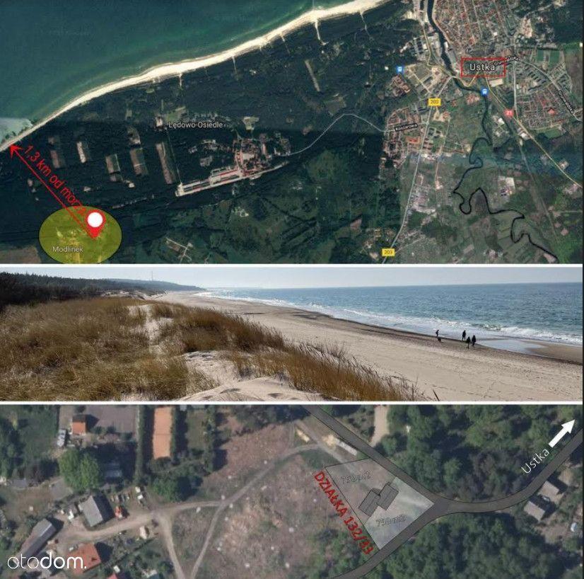 Działka w Modlinku koło Ustki 1300 m od plaży!