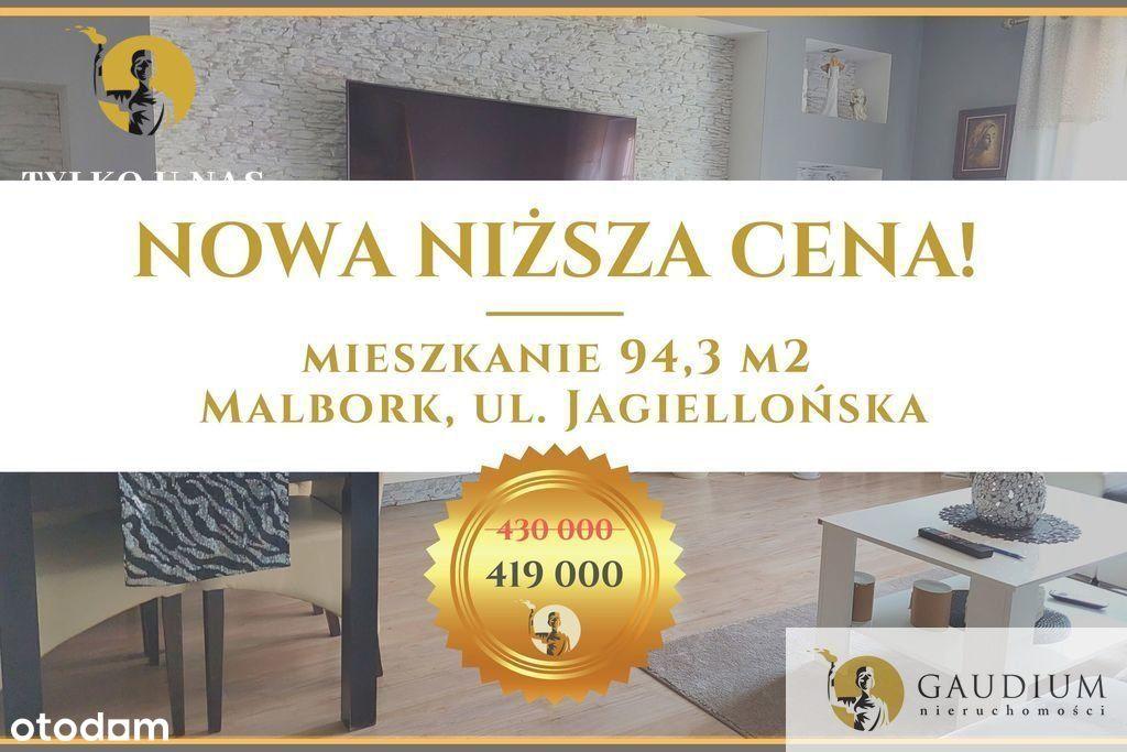 Klimatyczne 4 pokoje 95 m2. Malbork. 430000pln.