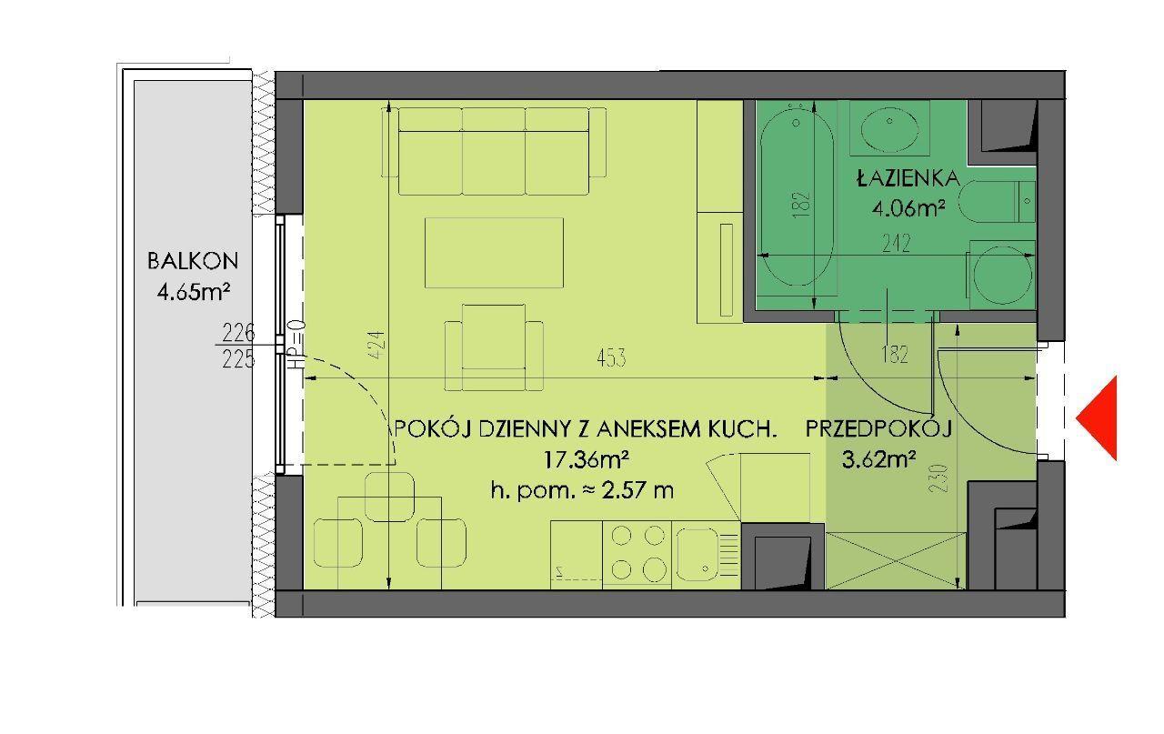 Rynek ul. Ks. Witolda: 25 m2 – BEZ PCC