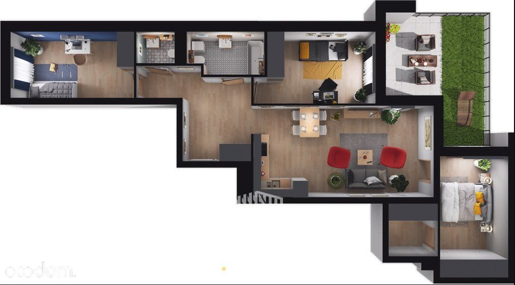 Duża przestrzeń dla rodziny / ogródek / nowa cena