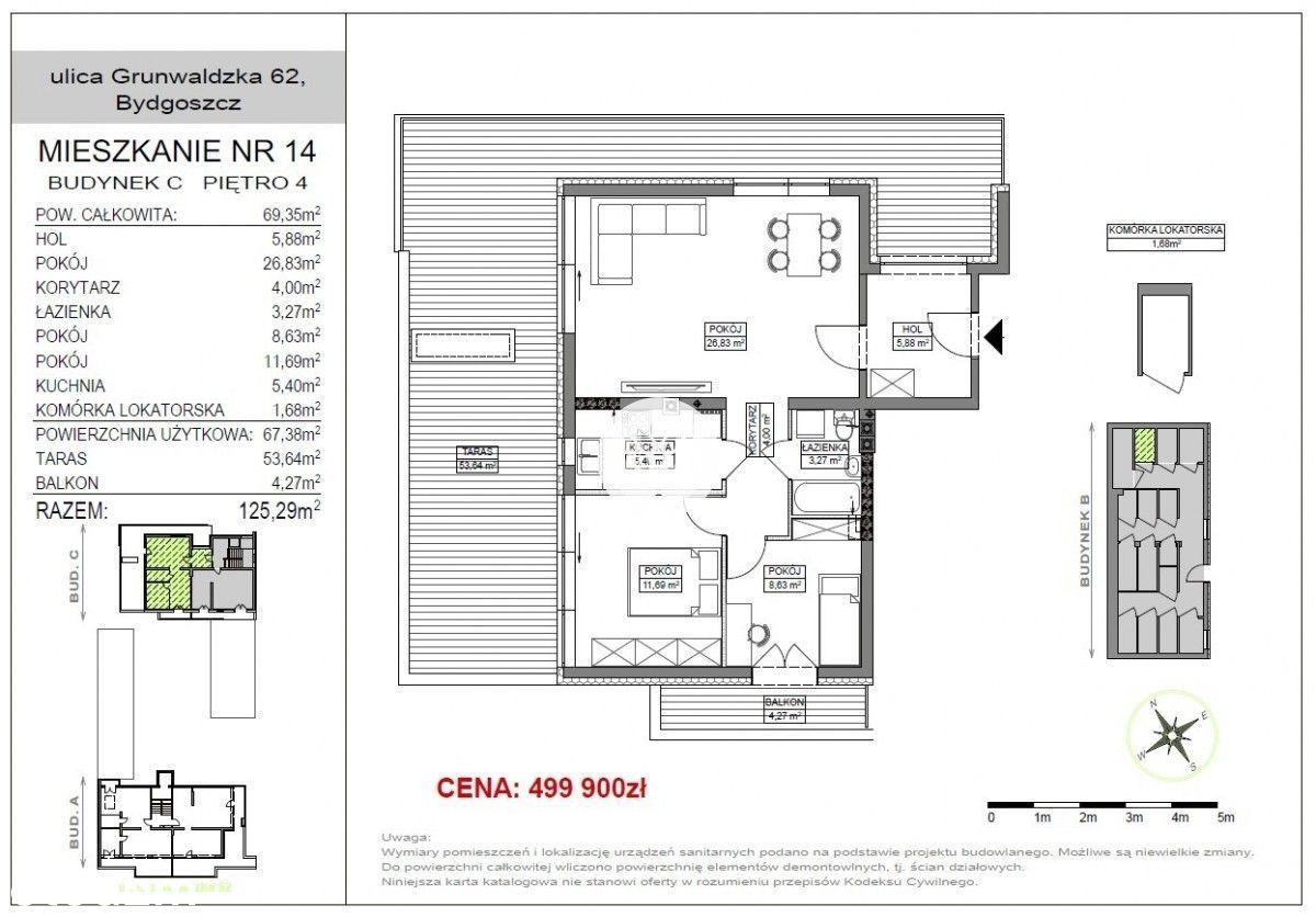 M4 Wygodne mieszkanie dla rodziny Duzy taras 60m2