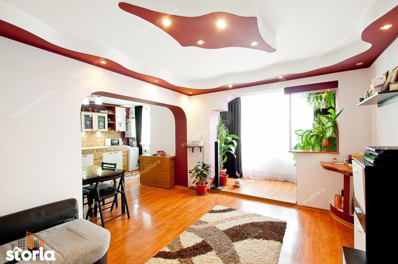 Apartament 3 camere Micro 20,mobilat, centrala termica