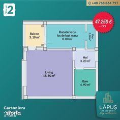 LĂPUŞ Residence - Apartamente De LUX - Garsoniera Tip 2