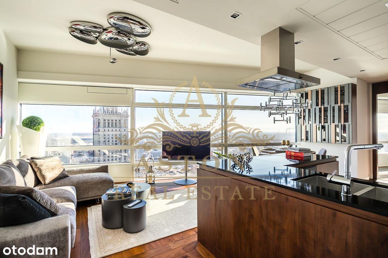 Exquisite apartment on 33th floor on Złota 44