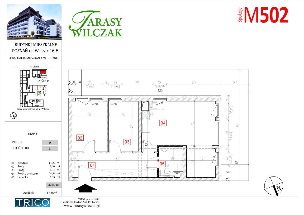 Tarasy Wilczak - 2 etap - mieszkanie 502