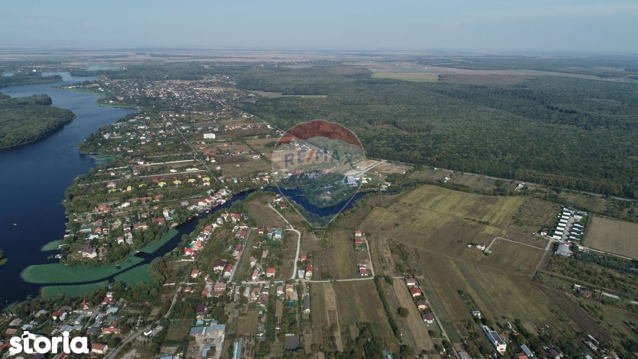 Teren 4858 mp Ghermanesti  iesire canal Lac Snagov