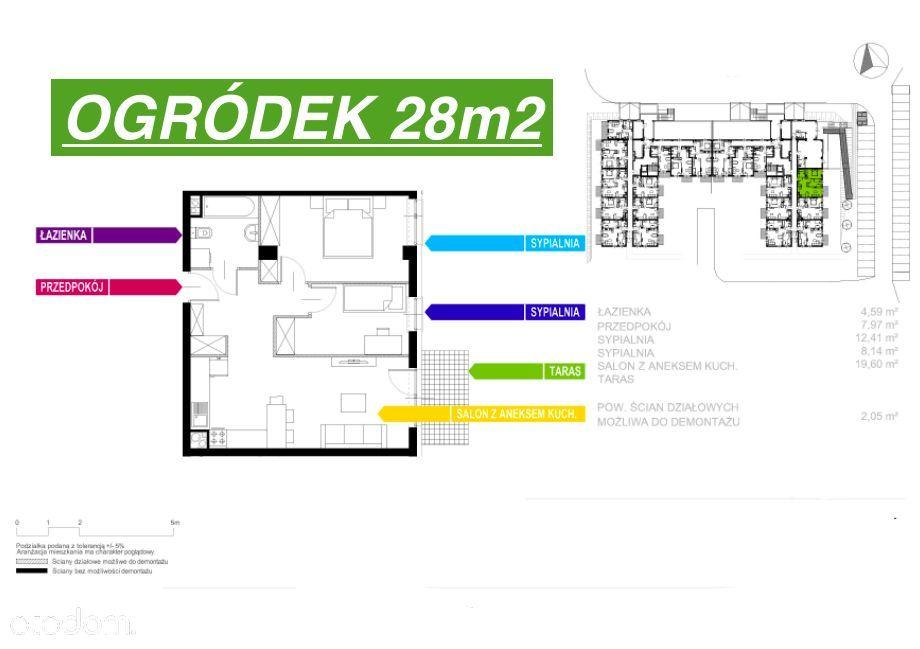 3 Pokoje+Ogródek 28m2/Nowe od Dewelopera-0%