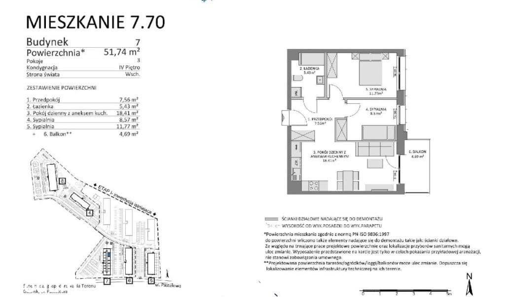 Mieszkanie 3 pok na sprzedaż od developera