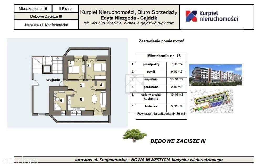 Mieszkanie deweloperskie Jarosław 3 pokoje 54 m2