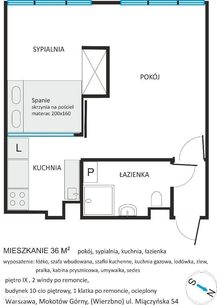 Warszawa, Mokotów 36 m2