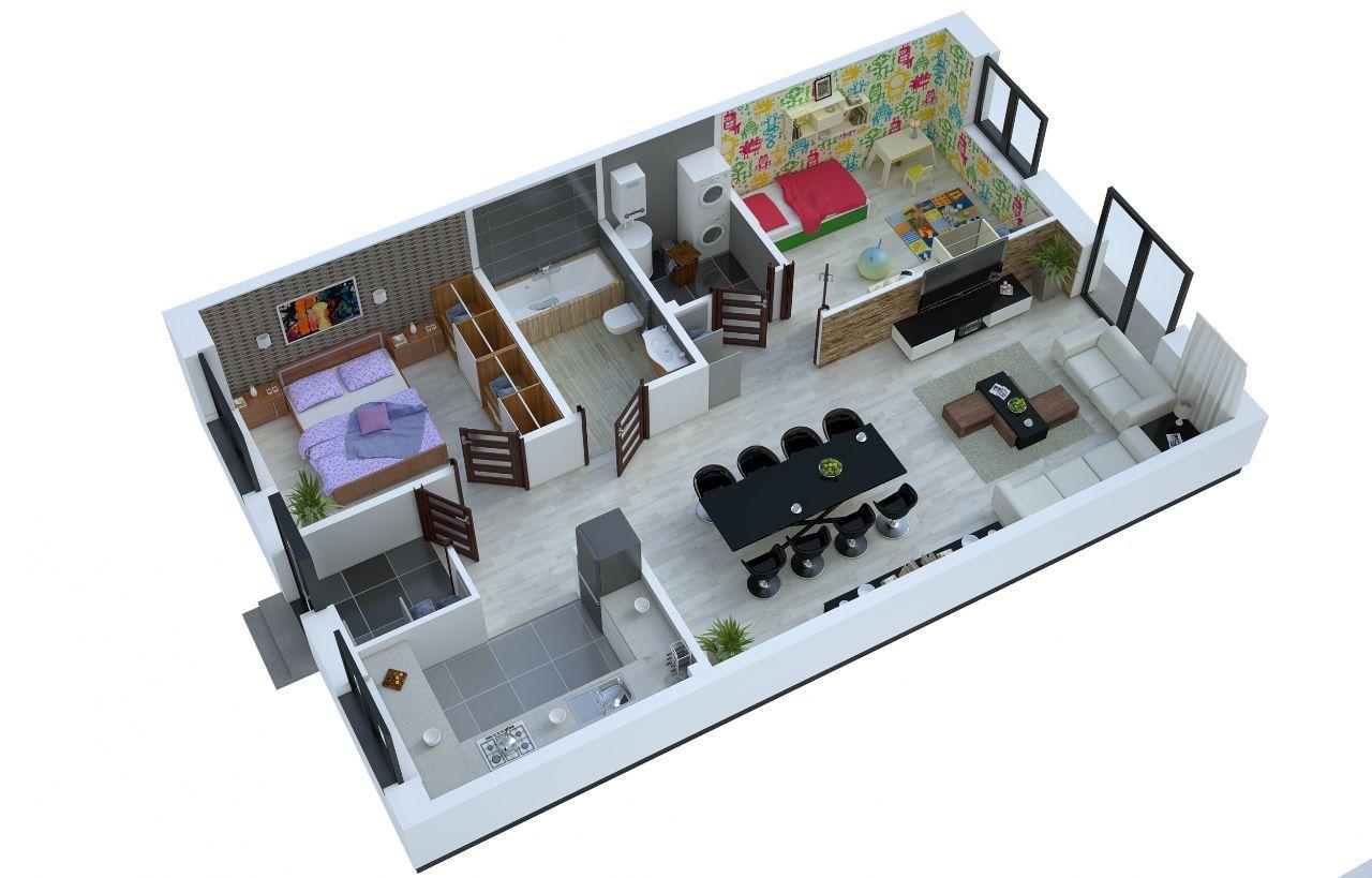 Apartament Wesoła - Nowy Otok - A3