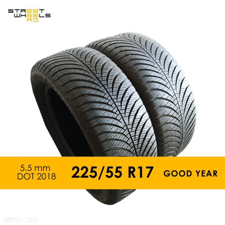 225/55 R17 GoodYear Vector 4 Season 2 - 2 Anvelope SH All season MS 225 55 17 M+S - 1