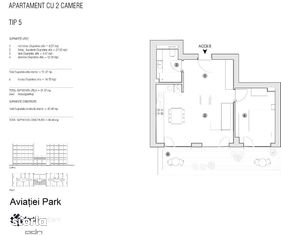 Apartament 2 camere | Finalizat 2020 | Aviatiei Park by Forte Partners