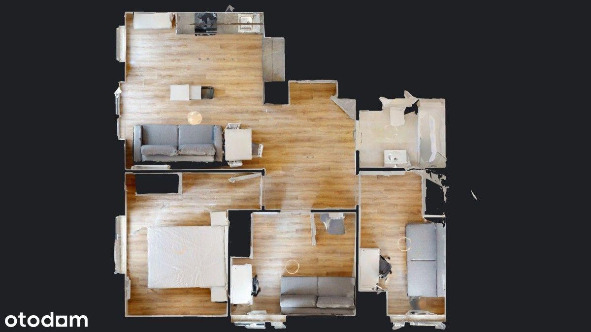 Widok 3D//Wynajmę 3 pokojowe mieszkanie//Mokotów
