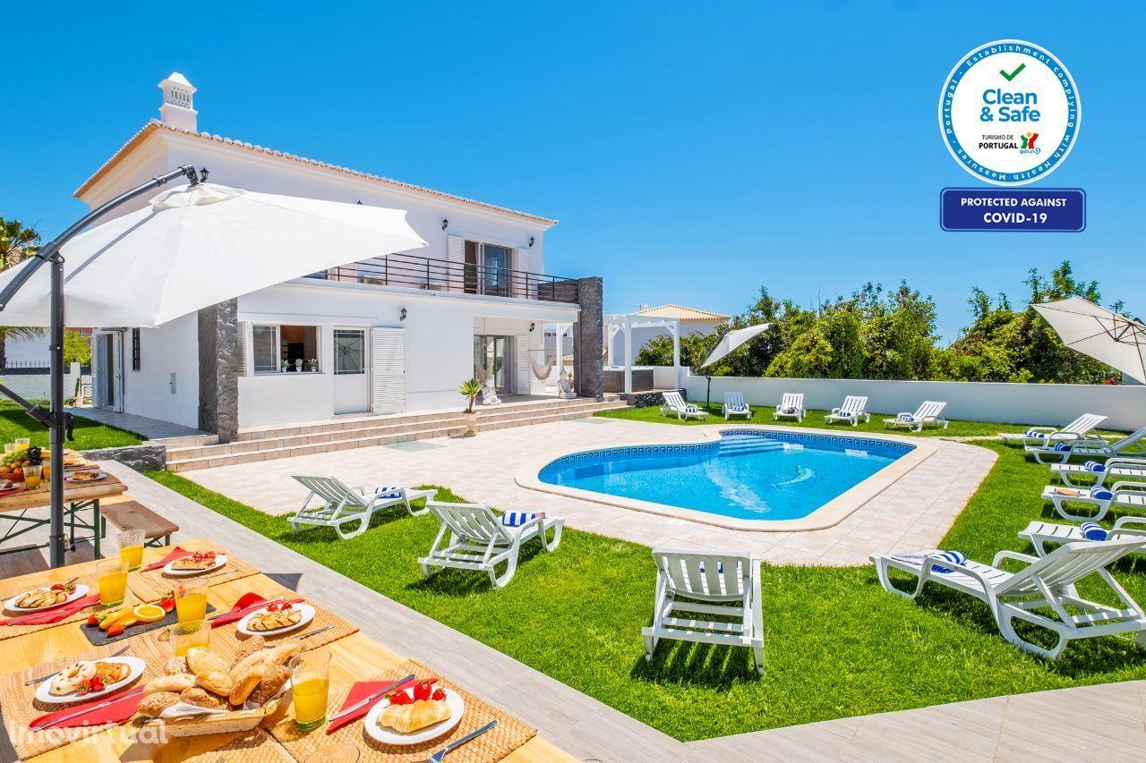 Villa Krystal Bay - Moradia T7, Piscina aquecível, Jacuzzi, WIFI, AC