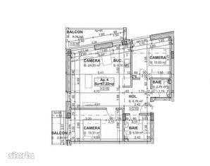 Apartament de vanzare, in ansamblu rezidential, la 10 minute de centru