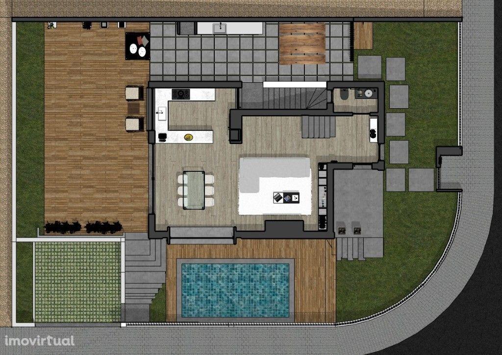 Moradia Nova Isolada - T4 com piscina e garagem - Excelente qualidade