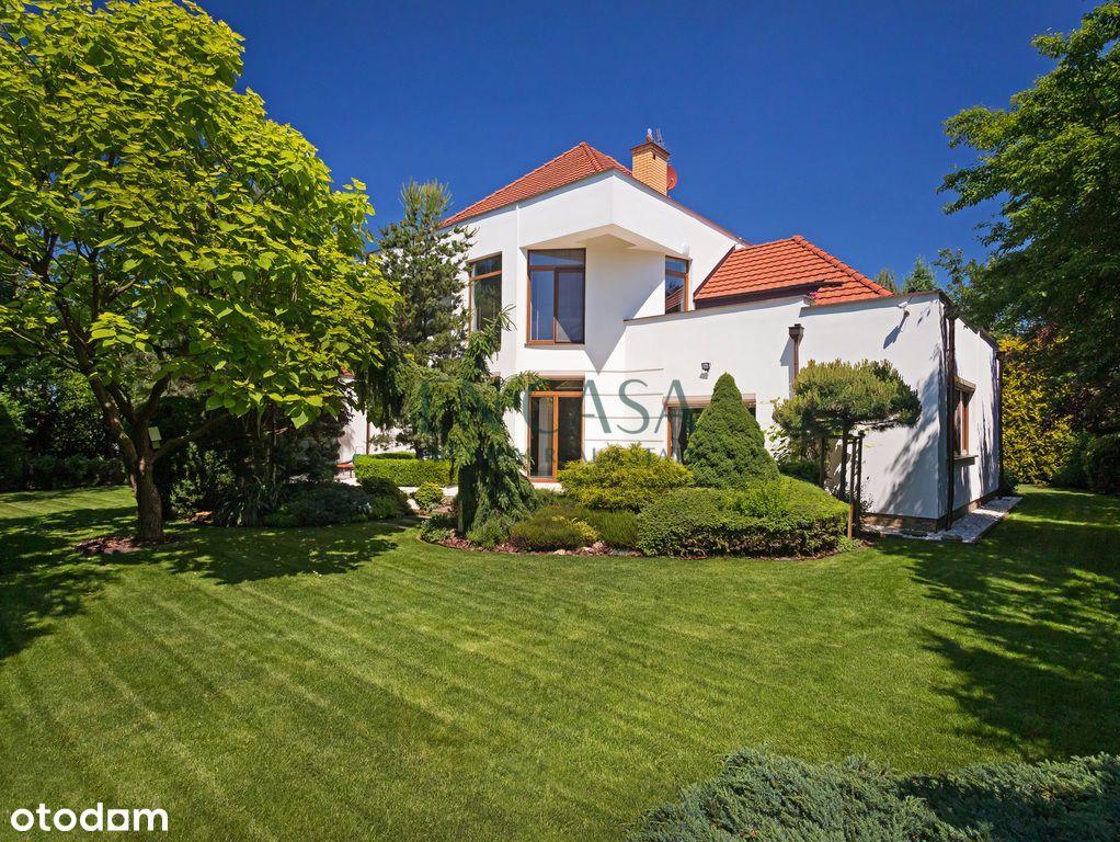 Niepowtarzalny dom, salon o wys. 6m, piękny ogród