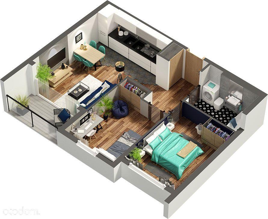Od dewelopera, 3 pokoje, taras na dachu