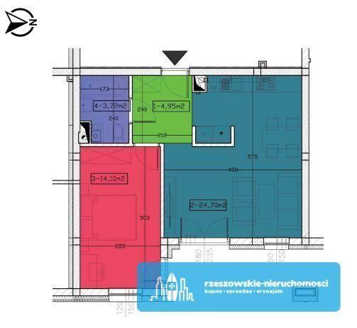48 m2 / 2 pokoje/ 130 m2 ogródka / Garaż podziemny