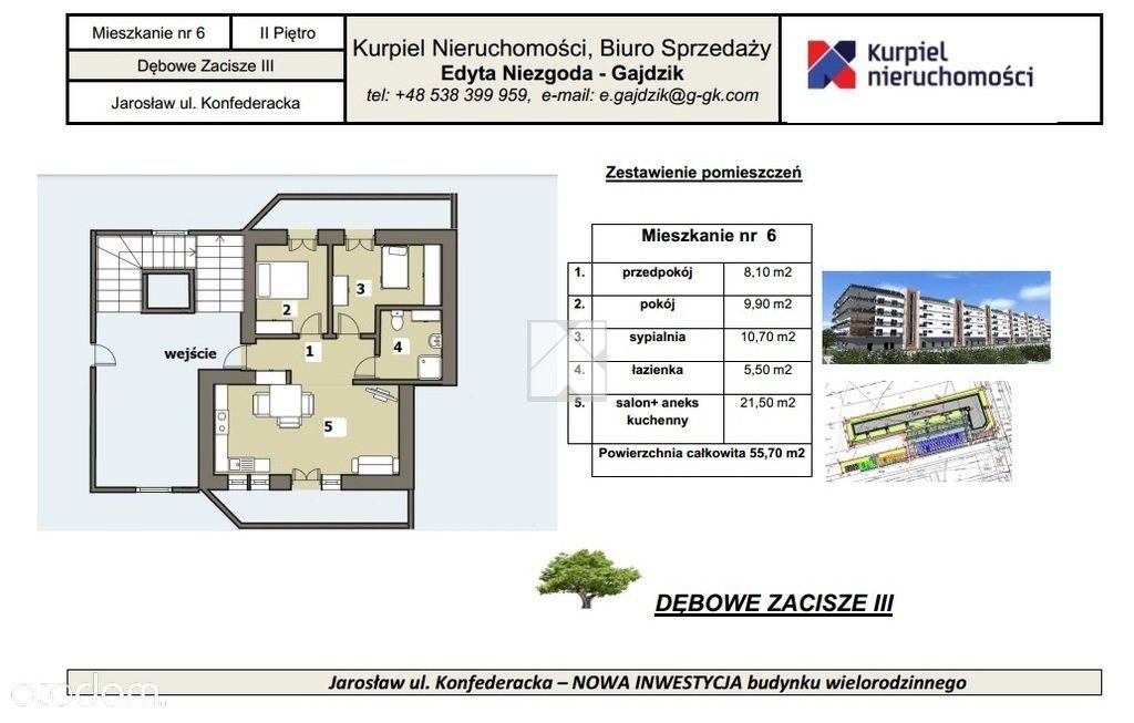 Mieszkanie deweloperskie Jarosław 3 pokoje
