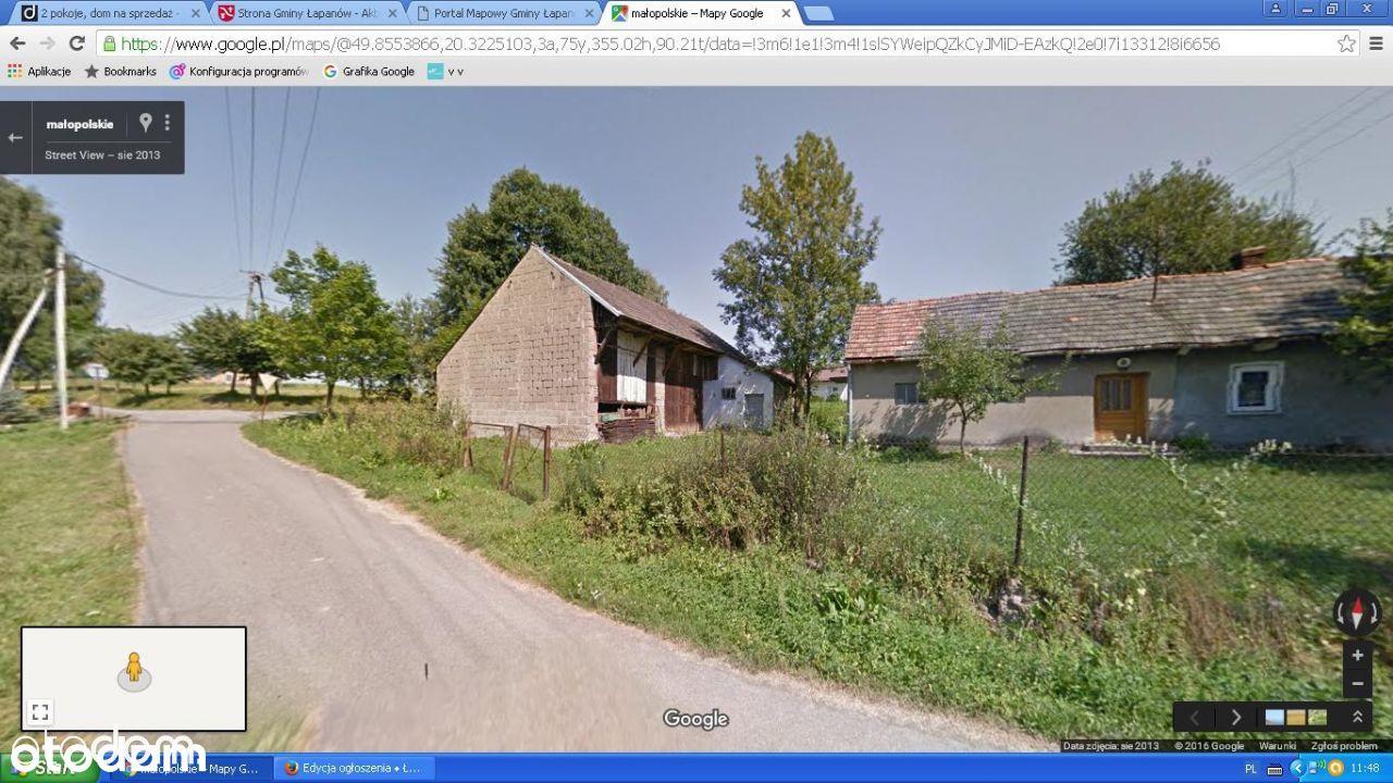 Łapanów Ubrzeż Dom + stodoła 10 arów przy drodze