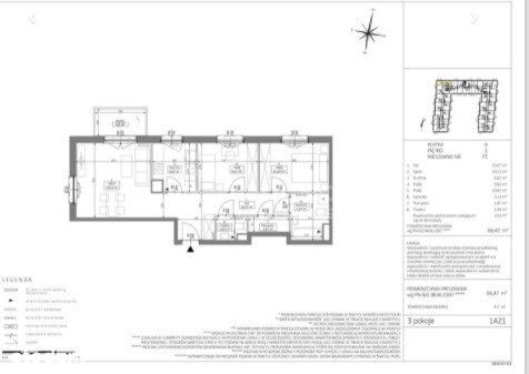 Na Sprzedaz 67 M2 3 Pokoje i Piętro Grunwald