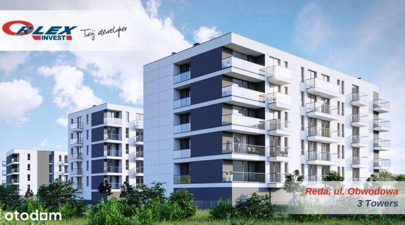 3Towers, 2 balkony, winda, Orlex Invest